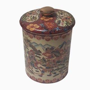 Chinesische Cloisonné Schachtel aus Deckel mit vergoldetem Griff, 1920er