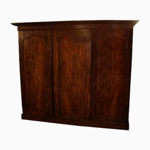 Large Antique Mahogany 3-Door Compactum Wardrobe, 1900s