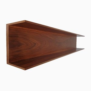 Mid-Century Walnut Shelf by Walter Wirz for Wilhelm Renz, 1960s