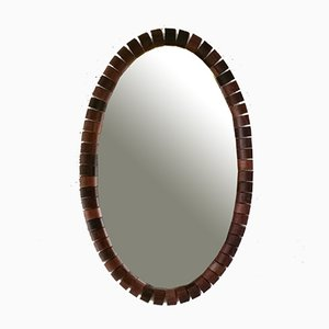 Scandinavian Oval Wall Mirror, 1960s