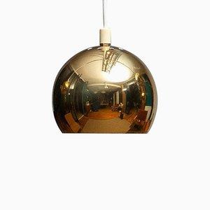 Swedish Brass Spherical Globe-Shaped Pendant Lamps, 1970s, Set of 5
