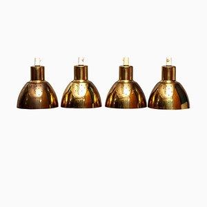 Lampes à Suspension en Laiton par Hans-Agne Jakobsson pour Markaryd, Suède, 1960s, Set de 4