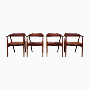 Mid-Century Danish Dining Chairs by Thomas Harlev for Farstrup Stolefabrik, Set of 4