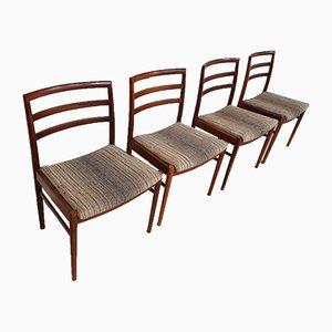 Mid-Century Teak Esszimmerstühle von Beithcraft, 4er Set