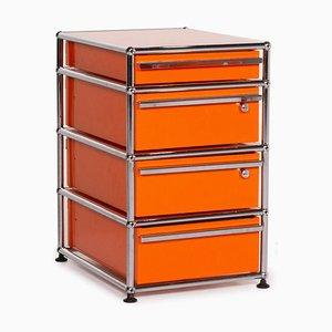 Orange Metal and Chrome Sideboard from USM Haller