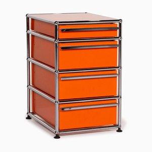 Orange Metall und Chrom Sideboard von USM Haller