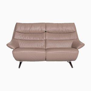Beiges Leder 4600 2-Sitz Sofa von Himolla