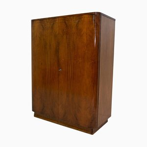 Czech Modernist Walnut Wardrobe, 1950s