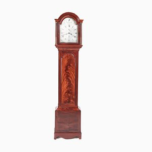 Horloge Longue de 8 Jours Antique en Acajou de Thomas Fowle of East Grinstead