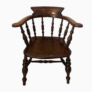 Silla de escritorio antigua de roble, década de 1860