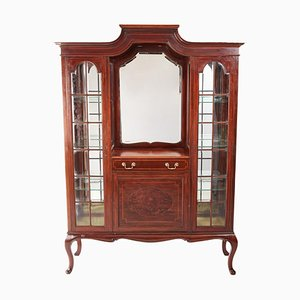 Antique Edwardian Inlaid Mahogany Display Cabinet from Maple & Co