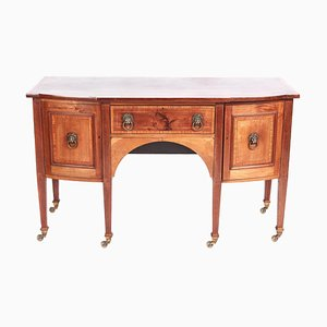 Edwardian Inlaid Mahogany Breakfront Sideboard
