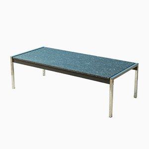 Tavolino da caffè in marmo e placcato in cromo, anni '60