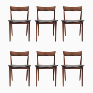 Chaises de Salon Modèle 39 en Palissandre par Henry Rosengren Hansen pour Brande Møbelindustri, 1960s, Set de 6