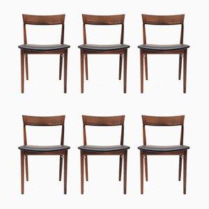 Rosewood Model 39 Dining Chairs by Henry Rosengren Hansen for Brande Møbelindustri, 1960s, Set of 6