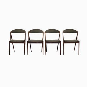 Vintage Rosewood Dining Chairs by Kai Kristiansen, Set of 4