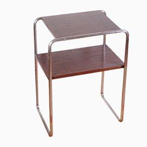 Tavolino modello R5 in metallo tubolare Bauhaus di Slezak, anni '30