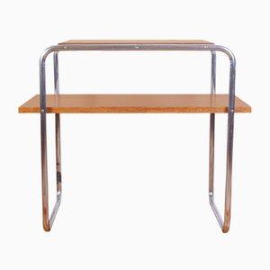 Tavolino modello B12 in stile Bauhaus cromato di Marcel Breuer per Slezak, anni '40