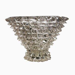 Grand Vase Rostrato Vintage en Verre par Ercole Barovier pour Barovier & Toso, 1930s