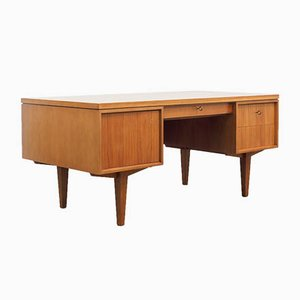 Walnut Executive Desk, 1950s