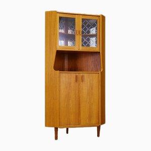 Mobiletto ad angolo vintage in teak, Danimarca, anni '60