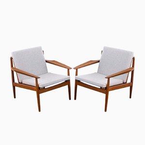Dänische Teak Sessel von Arne Vodder für Glostrup, 1960er, 2er Set