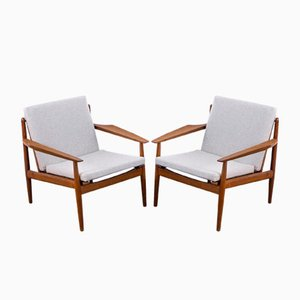 Danish Teak Lounge Chairs by Arne Vodder for Glostrup, 1960s, Set of 2