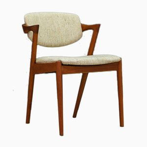 Chaises de Salon en Teck par Kai Kristiansen, 1960s, Set de 4