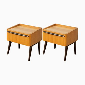 Ash Veneer Nightstands from WK Möbel, 1950s, Set of 2