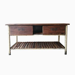 Vintage Industrial Kitchen Worktable