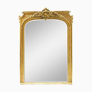 Espejo de pared estilo barroco grande, siglo XIX