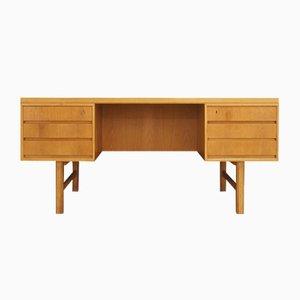 Vintage Eschenholz Furnier Modell 76 Schreibtisch von Omann Jun, 1970er