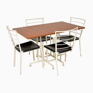 Teak Esstisch & Stühle Set von Ladderax, 1960er, 5er Set