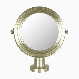 Vernickelter Metall Tischspiegel im Stil von Sergio Mazza für Artemide, 1960er