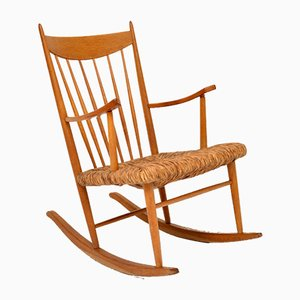 Vintage Danish Rocking Chair, 1950s