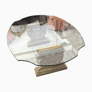 Plaster and Glass Coffee Table, 1950s