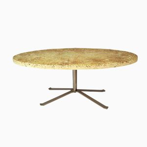 Oval Vintage French Coffee Table by Pierre Giraudon, 1970