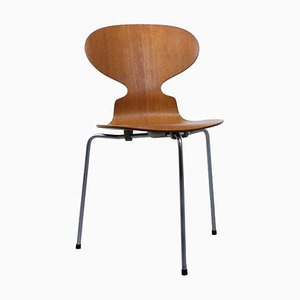 Oak First Edition Ant Dining Chair by Arne Jacobsen for Fritz Hansen, 1950s
