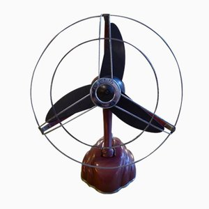 Red Streamline Dragonfly Fan from Schoeller & Co., 1950s