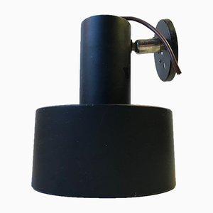 Dänische Schwarze Minimalistische Wandlampe von Louis Poulsen, 1970er