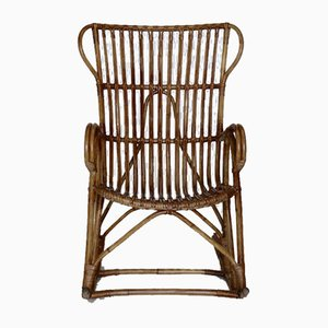Vintage Rattan Rocking Chair, 1950s