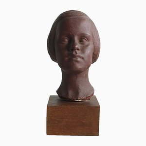 Portrait of Young Girl Sculpture, 1940s