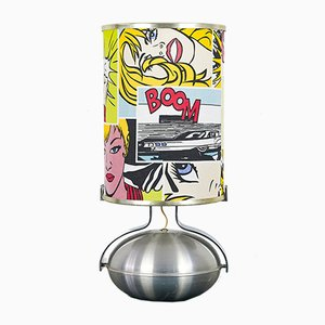 Vintage Modern Pop Art Table Lamp, 1970s