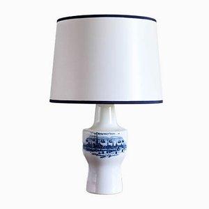 Lámpara de mesa de porcelana de Royal Copenhagen, años 60