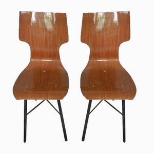 Italian Formica Dining Chairs, 1960s, Set of 2