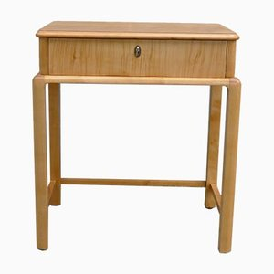 Vintage Art Deco Sewing or Console Table in Maple