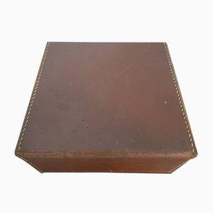 Caja de cartón de cuero sintético, años 70