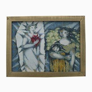 Pittura ad olio di Ellen Dubach, anni '80, set di 2