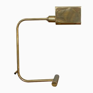 Vintage Minimalist Desk Lamp in Brass, 1970s