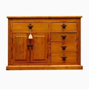 Antique Victorian Rustic Pine Sideboard Kitchen Island